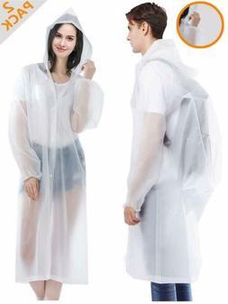 "Rain Coats EVA Reusable Rain Coat Jacket with Hood, Size 59"""