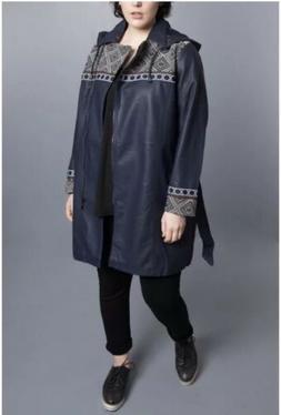 Jean Marc Philippe Rain Jacket/Coat Faux Leather Plus Size20