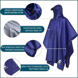 Rain Jacket Coat Waterproof Hood Portwest Classic With Pack