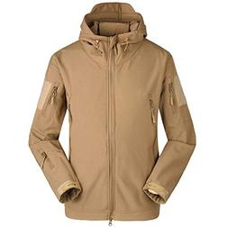 iYYVV Mens Rain Jacket Coat Waterproof Soft Shell Windbreake