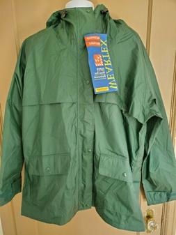 Wearguard Rain Jacket green hooded waterproof and breathable
