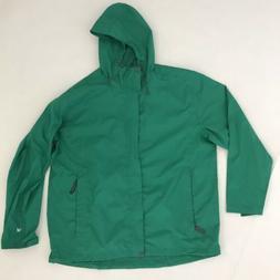 White Sierra Rain Jacket Men's Sz XXL 2X Green Packable Ne
