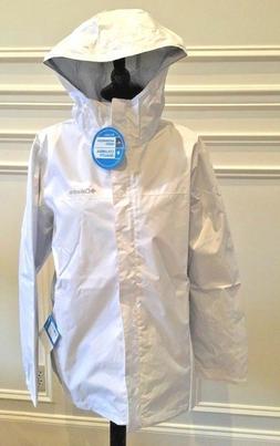 Columbia Rain Jacket Women's Plus Size 1X Hooded White/Grey