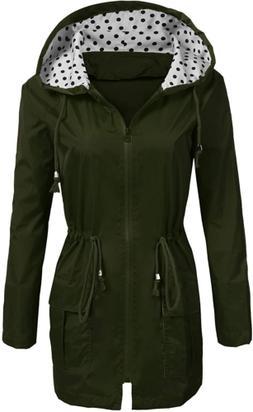 Soteer Rain Jacket Women'S Waterproof Raincoat with Hood L