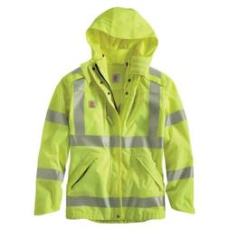 Carhartt Rain Jacket Work Waterproof Men's 3X Large Brite Li