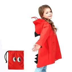 Raincoat for Kids Rain Jacket Age 1-10 X-Large, Thicker Vers