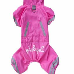 Raincoat Jacket For Dogs 4-leg Jumpsuit Apparel Rain Wear Pe