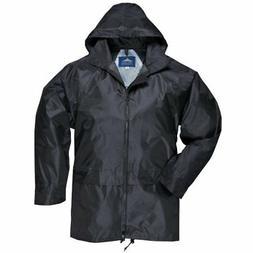 Raincoat Rain For Portwest Men Women Waterproof Coat Black S