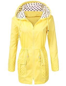 SoTeer Raincoat Women Waterproof Jacket with Hood Packable L