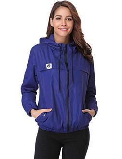 Abollria Raincoats Waterproof Lightweight Rain Jacket Active