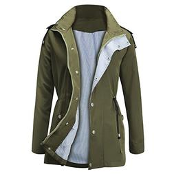 FISOUL Raincoats Waterproof Lightweight Rain Jacket Active O