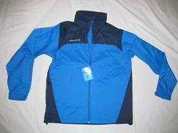 Columbia Raincreek Falls Rain Hidden Hood  man blue jacket B