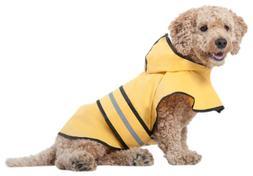 Fashion Pet Rainy Days Slicker Yellow Raincoat, Large