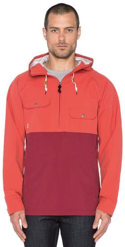 POLER Ranger Anorak Rain Jacket Red Waterproof Pullover Hood