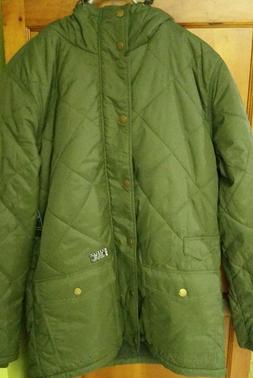 Rare NWT HURLEY Men's Green SNOWBOARD SKI Rain Jacket winter