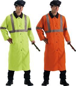 Reflective Hi Vis High Visibility Reversible Rain Police Tra