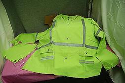 Reflective Neon Rain Jacket with Detachable Hood and Pants 4