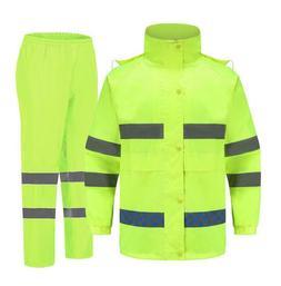 reflective waterproof rain jacket set suits working