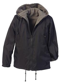 Gioberti Men's Reversible Rain Jacket with Polar Fleece Lini