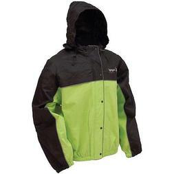 Frogg Toggs Road Toad Rain Jacket Hi-Vis Green & Black Size