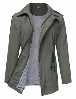 Romanstii Rain Coat Women Waterproof Windproof Trench Jacket