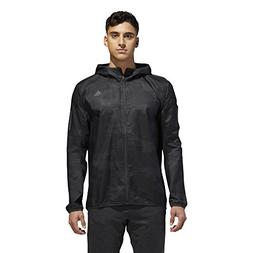 adidas Running Response Graphic Hooded Wind Jacket, Carbon,