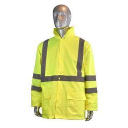 Radians RW10-3S1Y Lightweight Rain Jacket Lime Hi-Viz