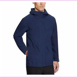 32 Degrees Cool Men's Waterproof Rain Jacket, Color: Navy