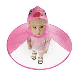 Sameno Cute Rain Coat UFO Cute Cartoon Duck Yellow Baby Chil