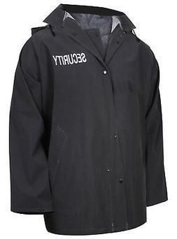 Security Rain Jacket Black Tactical Waterproof Outerwear Wit
