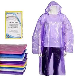 IMPRIE Rain Ponchos for Adults - Disposable Waterproof Ponch