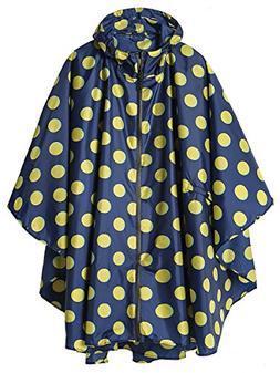 SiYang Stylish Unisex Hooded Waterproof Rain Poncho with Zip