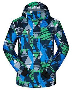 ELETOP Men's Ski Jacket Outdoor Waterproof Windproof Coat Sn