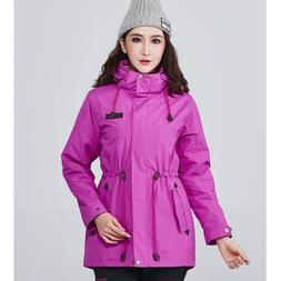Solid Waterproof <font><b>Jacket</b></font> Women Outdoor Wi