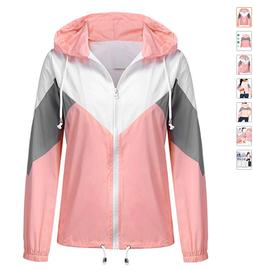 SoTeer S Womens Raincoat Lightweight Waterproof Rain Jacket
