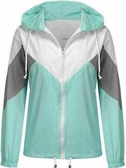 SoTeer Womens Raincoat Lightweight Waterproof Rain Jacket Ou