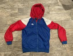 Nike Sportswear Hoodie Windbreaker Rain Jacket Red/Blue/Whit