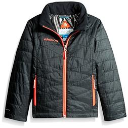Columbia Sportswear Girls Mighty Lite Jacket, Black-Laser Re