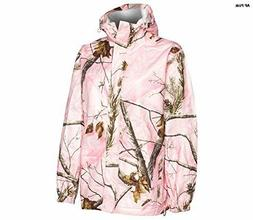 Realtree Storm Seeker AP Pink Camo Zip Up Hoodie Rain Jacket