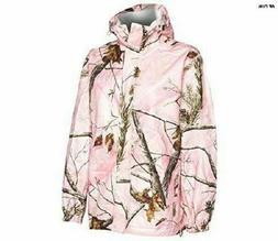 Realtree Storm Seeker Pink Camo Zip Up Hoodie Rain Jacket Si