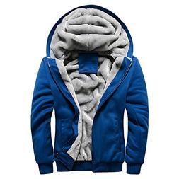 UOFOCO Sweater Jacket for Mens Zipper Hoodie Winter Warm Fle