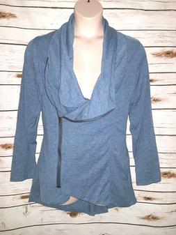 Sweet Rain Mod Cloth Airport Greeting Jacket Sweater Blue As