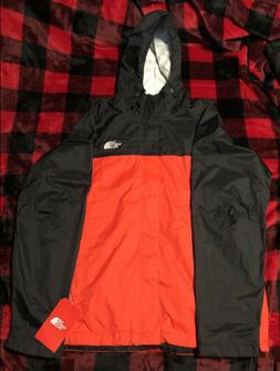 THE NORTH FACE MEN'S VENTURE 2 HOODED RAIN JACKET FIERY RED