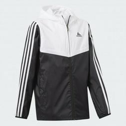 Adidas Tiro 17 Hooded Rain Windbreaker Jacket $65 NWT Black
