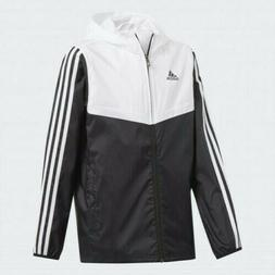 Adidas Tiro Hooded Rain Windbreaker Jacket $65 NWT Black & W
