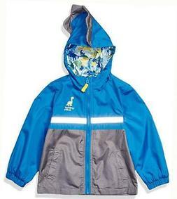 London Fog Toddler Boys Blue Donosaur Rain Jacket Size 2T 3T