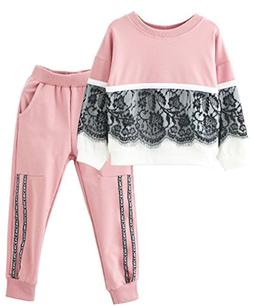 Ancia Toddlers Little Girl Kids Toddlers Long Sleeve Top Pan