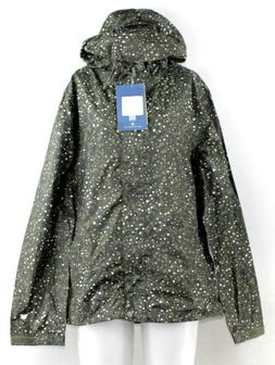 White Sierra Trabagon Printed Rain Shell, Deep Lichen Green,