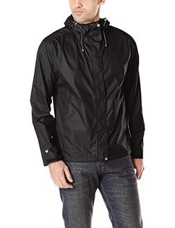 White Sierra Men's Trabagon Rain Jacket Black Medium