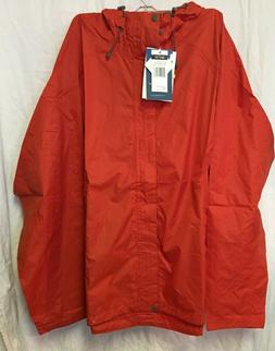 Trabagon Waterproof Seam Sealed Men's Rain Jacket by White S